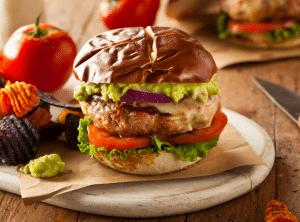 easy ground turkey burger
