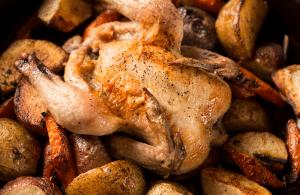 sheet pan cornish hens