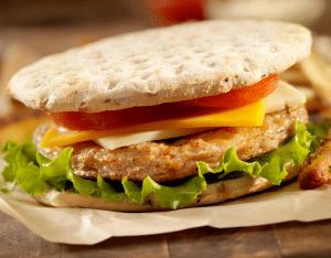 grilled italian turkey burger