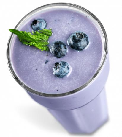 mango blueberry protein shake